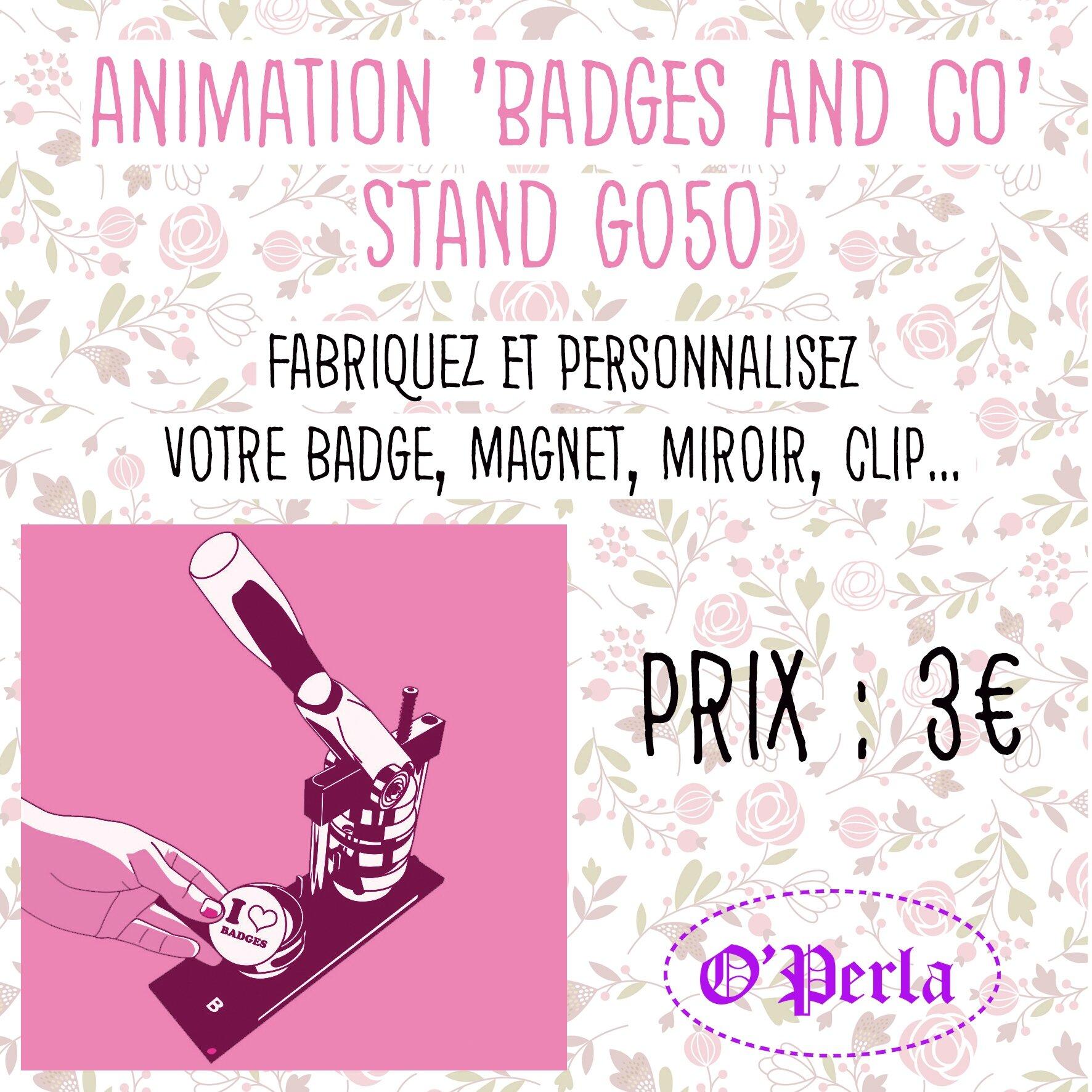 Ateliers 'Badges and co' au printemps du DIY, variez les plaisirs !