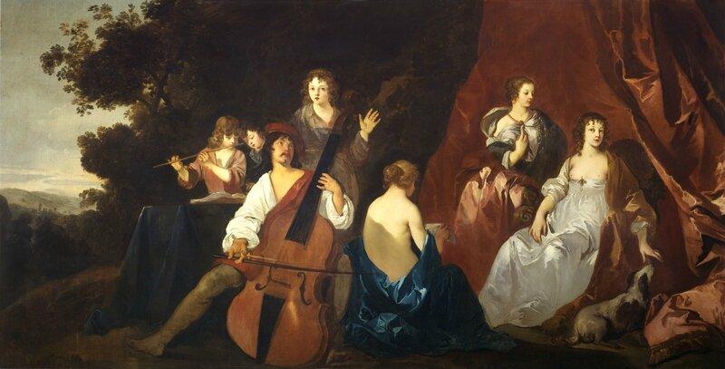 Peinture Violone par Sir Peter Lely