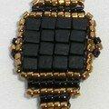 bague cubes noire