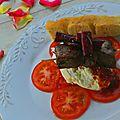 Carpaccio de tomates, burrata et boeuf en 2 façons