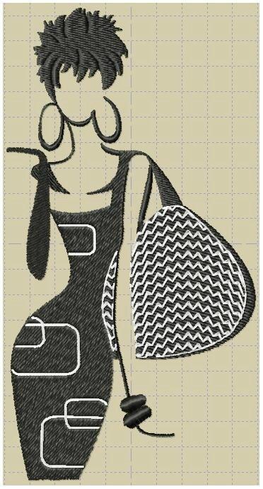 femme au sac