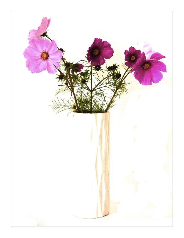 Vase blanc & Fleurs