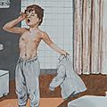 Collection ... affiche dans la salle de bain / dans la chambre
