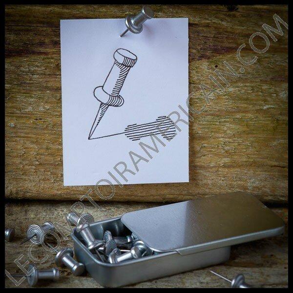 Push pins aluminium made in usa bo te de 20 punaises - Punaise pour accrocher ...