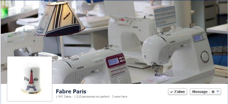 COUDRE PARIS - PAGE FACEBOOK
