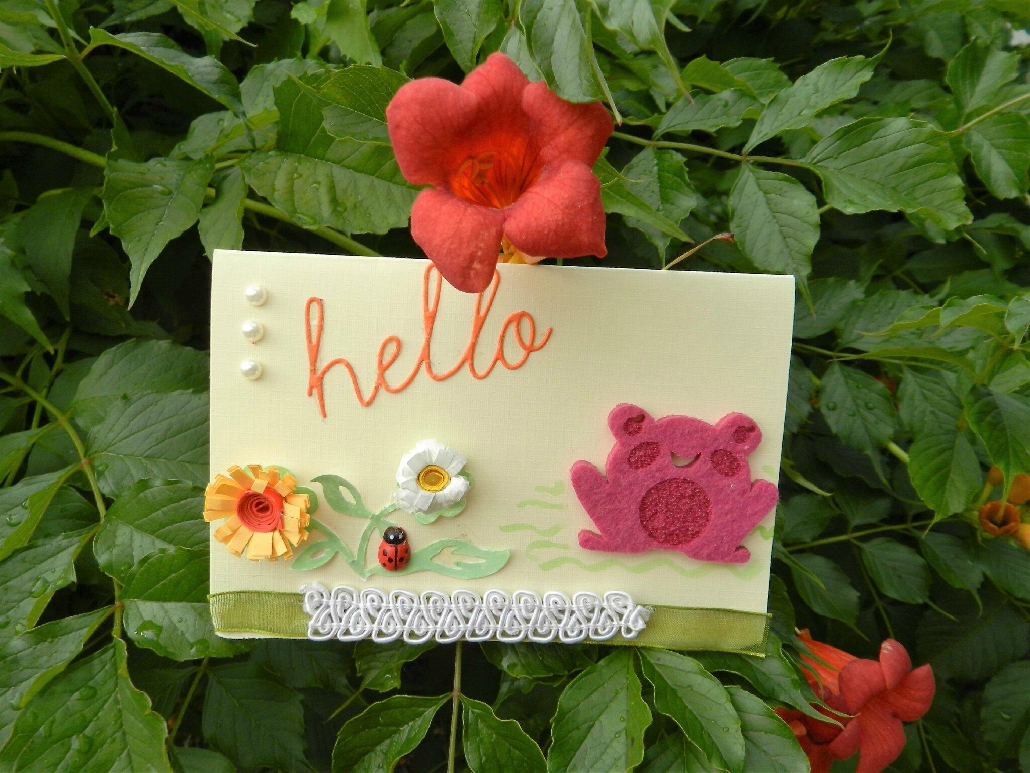 * Quelques cartes de scrapbooking au jardin