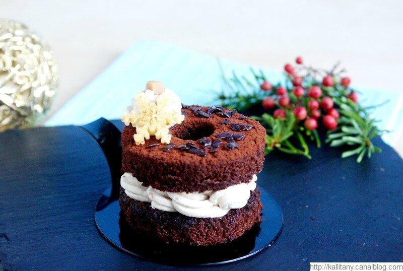 Blog culinaire Kallitany - Recette dessert couronne Noël chocolat café (24)
