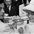 Romy et alain en 1962
