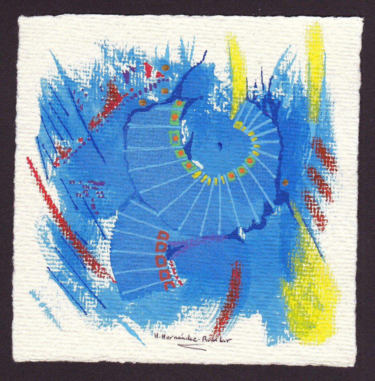 "Art Abstrait - Hector Hernandez-Rubilar ""HH"" - Art Contemporain"