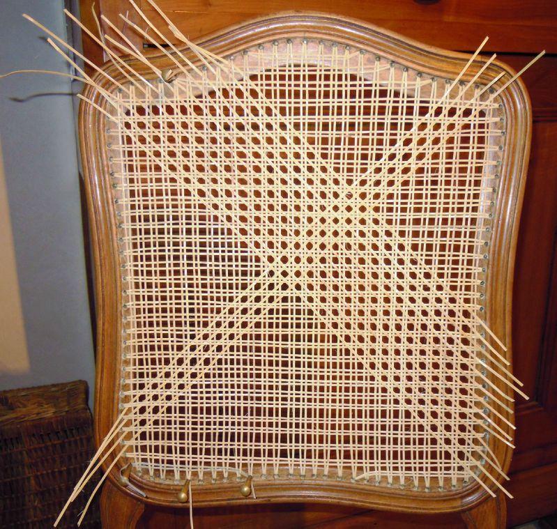dossier en cannage stephane poissel tapissier d corateur. Black Bedroom Furniture Sets. Home Design Ideas