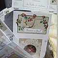 Boutons en fleurs Marimerveille. Pochette bouton canevas tapiseerie