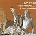 Lech walesa inaugure le 220e anniversaire du soulèvement vendéen