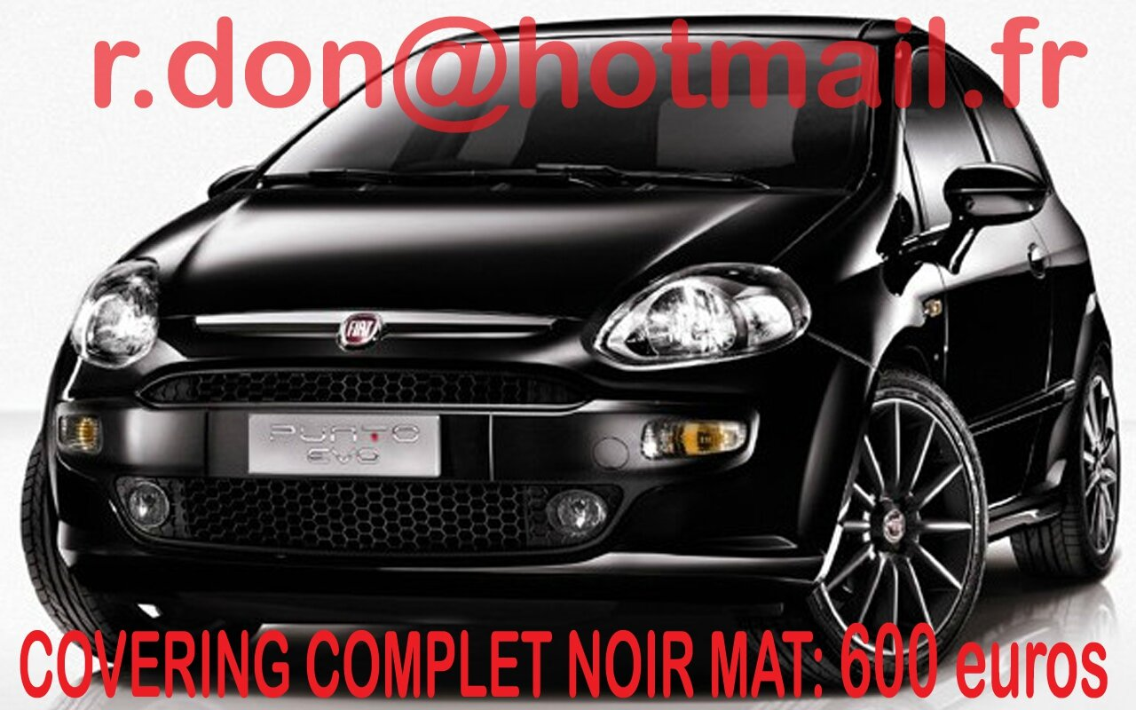 fiat punto evo covering fiat punto evo noir mat. Black Bedroom Furniture Sets. Home Design Ideas