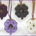 sautoirs grands trèfles / Clover necklace