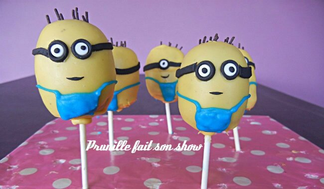 cakepops minion prunillefee