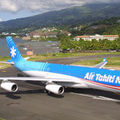 Plane AirTahitiNui A340 take off PPT