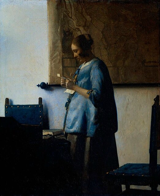 Vermeer's exquisite 'Woman in Blue Reading a Letter' returns to the National Gallery of Art