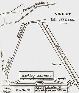 1967 - Circuit de vitesse de Bourgogne (BA 102) 14 et 15 mai (Plan circuit)