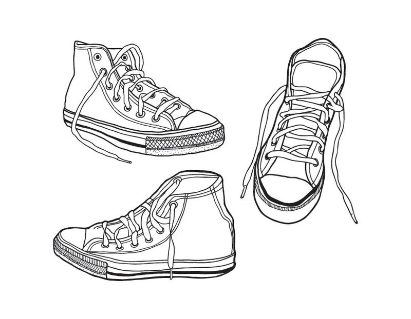 converse coloring pages printable - photo#18