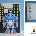 Carte pop-up pour garçon : le robot