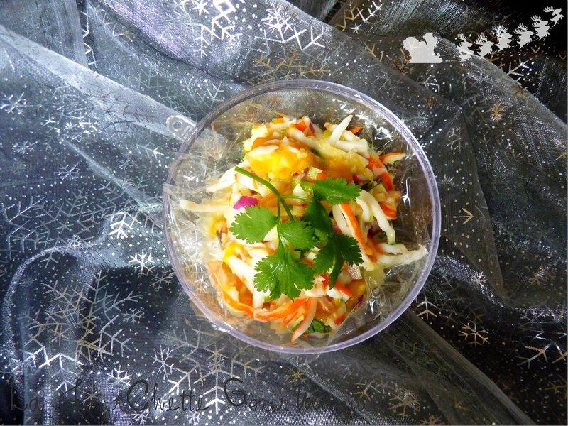 Salade surimi mangue