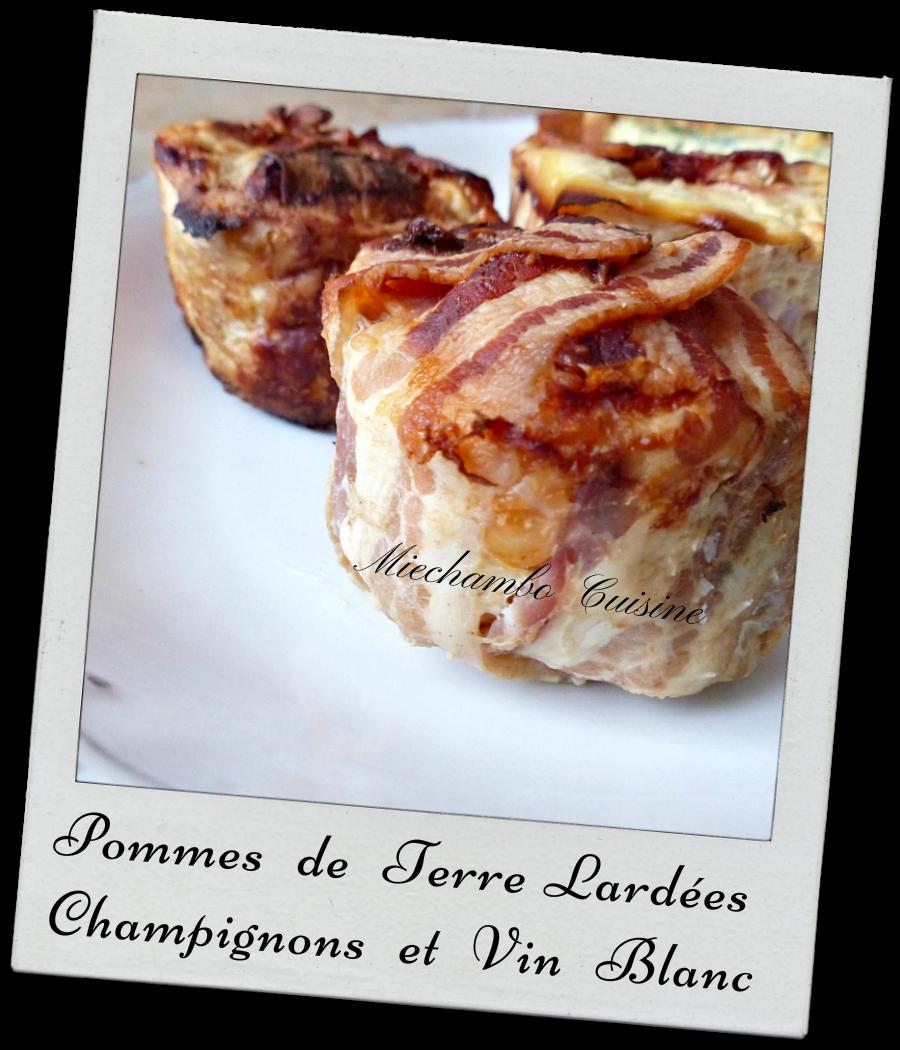 Pommes de terre lardées aux champignons de Paris