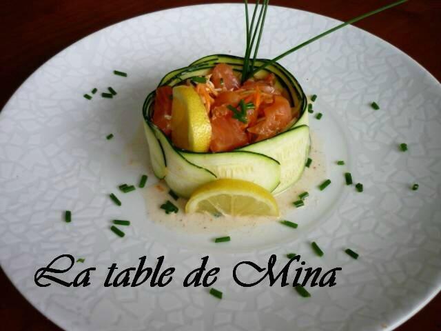 Meli-Melo de légumes et saumon fumé