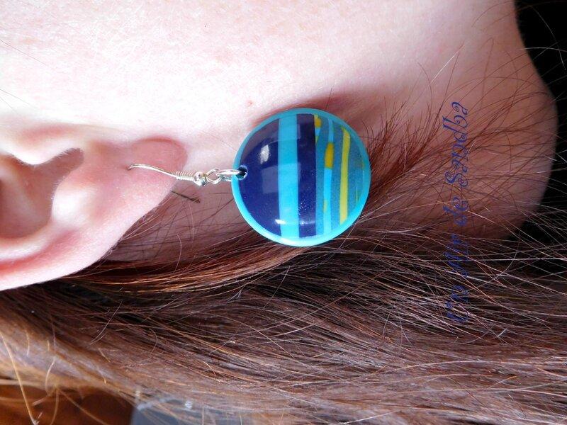 Boucles d'oreilles Azur (5)