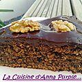 Gâteau aux noix, milka oreo et nappage choco