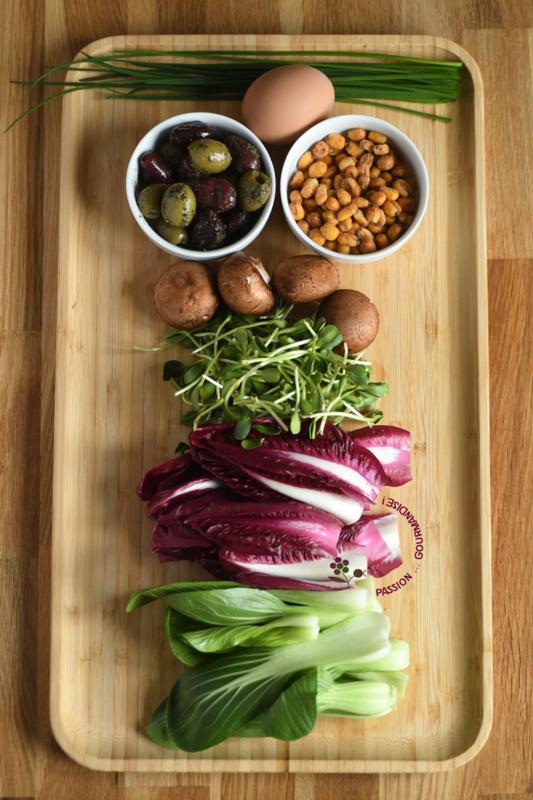 Ingrédients salade mars 2018
