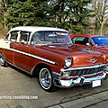 Chevrolet bel air 4door sedan de 1956 (retrorencard mars 2013)