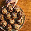 Muffins au sarrasin, à la banane et au sésame