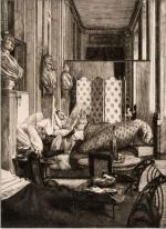 Le foyer de la Comédie française (1875), Souvenir du siège de Paris