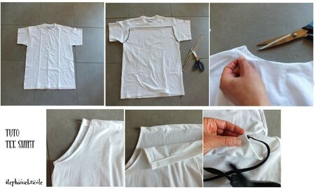 CUSTOMISER UN TEE SHIRT,DIY RECONSTRUCTING TEE SHIRT