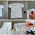 DIY reconstructing : transformer un tee shirt basique en un haut plus fminin !