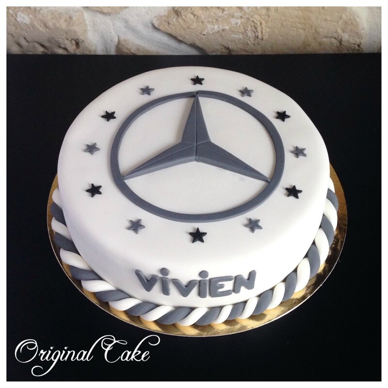 G teau mercedes original cake for Mercedes benz cake design