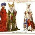 Costumes sous le règne de Charkes VI.