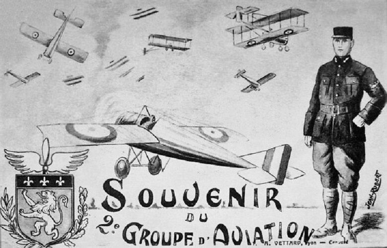 CPA Souvenir 2e Groupe d'aviation