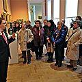 La visite de l'expo. watteau des amv par m. uribe le 28/11/2015 (photo rené delcourt)