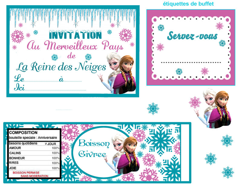 un anniversaire sur le th me reine des neiges myplanner le blog. Black Bedroom Furniture Sets. Home Design Ideas