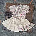 Robe jupe fleurie, 3 mois