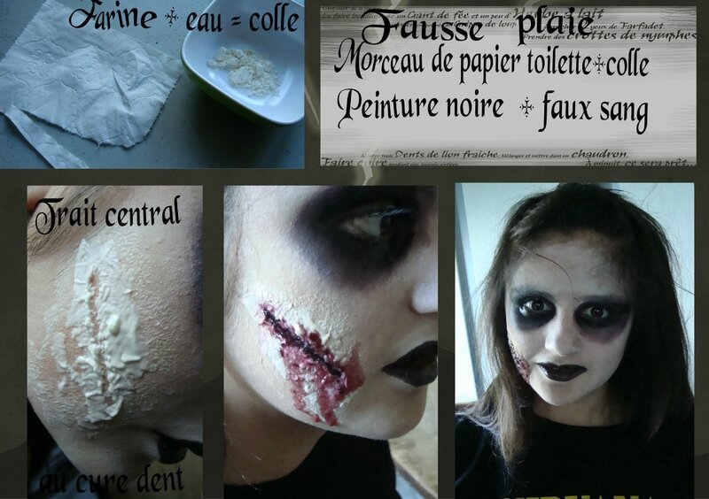 Maquillage halloween avec latex facile - Maquillage cicatrice halloween ...