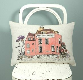 Sian-Zeng_Percy-Dalton_Cushion_Pink_Floral_Homeware_Chair_Quirky_Illustration-290x280