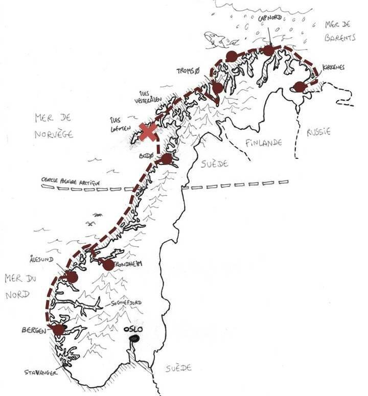 Norvègemap
