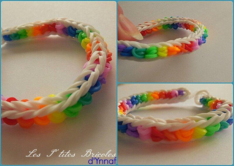 rainbow loom arc en ciel blanc1
