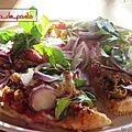 Pizza au thon et à la sara.