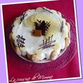 Entremets mousse poire - chocolat