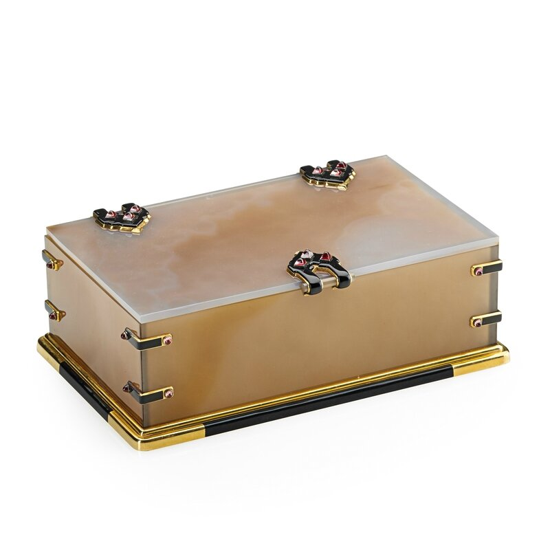 Lot 2030 cartier paris enameled gold amp agate table box sold for