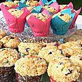 Muffins aux myrtilles et crumble comme chez starbucks