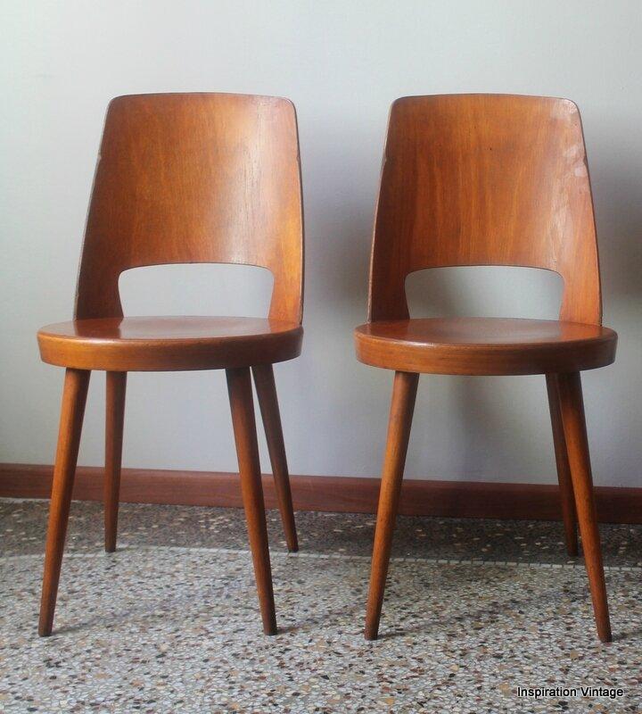 lot 4 chaises baumann 60 39 s inspiration vintage. Black Bedroom Furniture Sets. Home Design Ideas